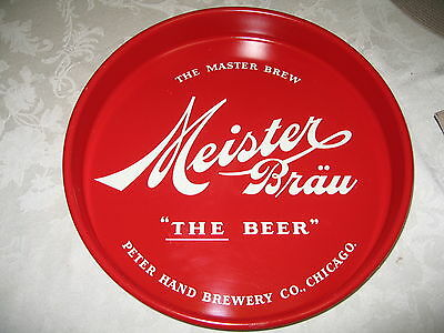 Peter Hand Brewery Co. Meister Brau Chicago Beer Tray