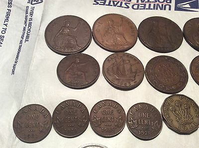 Huge Lot of British Empire and European WWII , Nazi Foreign Coins