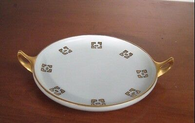 "Rosenthal Donatello Sels Bavaria Hand Painted Plate 7"" Vintage 1914 Gold Handles"