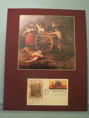 Molly Pitcher at the Battle of Monmouth & 200th Anniversary First Day  Cover