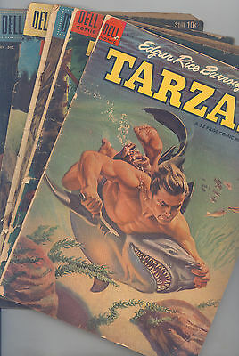 Tarzan Set of 13 (#56, 61, 90, 94,121,146,156,157,159,160,163,164, 177) VG Marsh