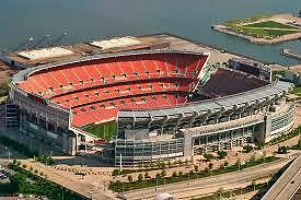 2 Tickets Pittsburgh Steelers Cleveland Browns Lower Level Row 8 Aisle seats NR