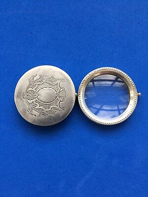 Antique Silver Loupe Magnifier Magnifying Glass