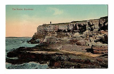 Vintage Ireland Postcard 1920 The Rocks Bundoran.