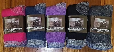 6 Pairs Ladies Sz 2-8 Mixed  Merino Wool Thermal Cushion Foot Work Socks