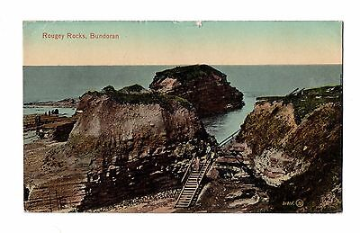 Vintage Ireland Postcard 1919 Roughy Rocks Bundoran