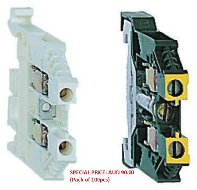 Schneider Electric Non-Fused DIN Rail Terminal AB1VV635U (Pack of 100)