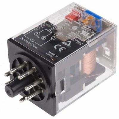 8 pin DPDT relay,10A 12Vdc coil - New in Box
