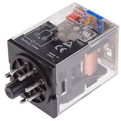 Omron 8 pin DPDT relay 10A 12V DC coil -MKS2PI DC12