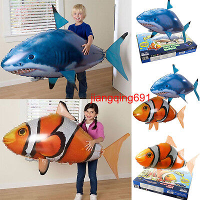 Air Swimmer RC Flying Inflatable Fish Shark Blimp Balloon Remote Control Toys AU