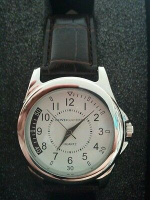 Boyd Gaming Casino Quartz Men's Watch Logo New Nib Las Vegas Brown Leather Band