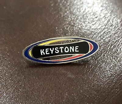 Keystone Ski Lodge Pin Oval Vintage Collectable Flair Badge Red Yellow Blue