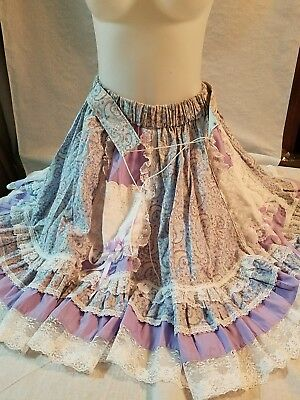 SQUARE dancing skirt size Small FUN & FANCY ORIGINALS REDDING CALIF lace  #13