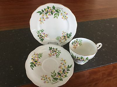 Royal Standard Fine Bone China Trio Wonga Vine Pattern Made In England