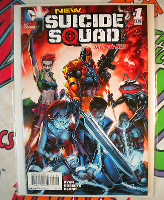 NEW SUICIDE SQUAD #1 DC Comic Book 2014 HARLEY QUINN Red 2nd Print Variant RARE