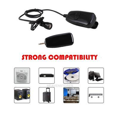 RF 2.4G Wireless Microphone Voice Amplifier Clip-on Tie Micro USB Rechargeable