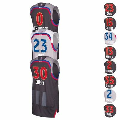 2017 NBA Adidas Official East & West All Star Climacool Swingman Jersey Men's
