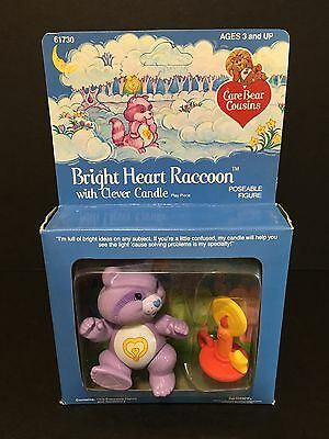 Vintage 1980's Kenner Care Bears Figure: Bright Heart Racoon NRFB