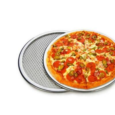 "6""/7"" Seamless Aluminum Pizza Screen Mesh Oven Baking Tray Round Pizza Plates LG"