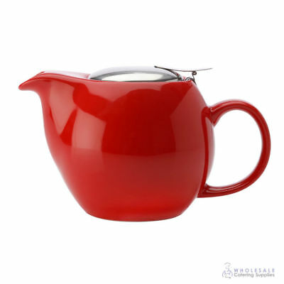 Teapot 500mL Red Maxwell & Williams Cafe Culture Pot Brew Tea Leaves Infuser