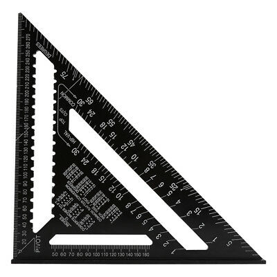 "7/12"" Aluminum Alloy Speed Square Rafter Triangle Angle Square Measuring Guide"