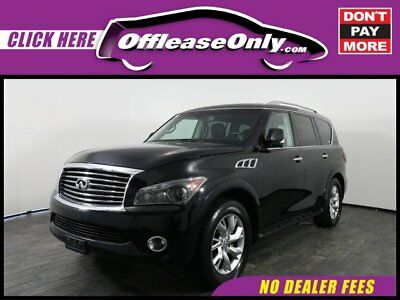 2013 Infiniti QX56 4X4 Off Lease Only Black Obsidian 2013 INFINITIQX564X4 with 49652 Miles