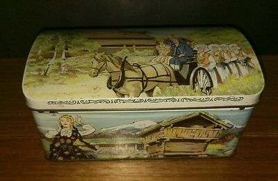 Vintage Chr Bjellands and Co Collectable Tin Made in Scandinavia