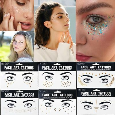 Disposable Body Art Gold Face Tattoo Stickers Bronzing Freckles Temporary