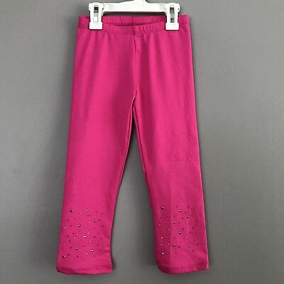 Danskin Freestyle Girls Dance Leggings Pink Bedazzled Studs Sizes XS 4/5- S 6/6X