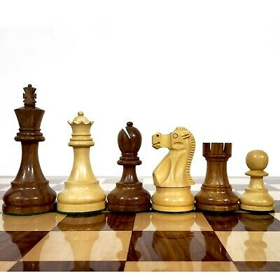 """3.9"""" Reproduced Reykjavik Series Weighted Wooden Chess Pieces chessmen Sheesham"""