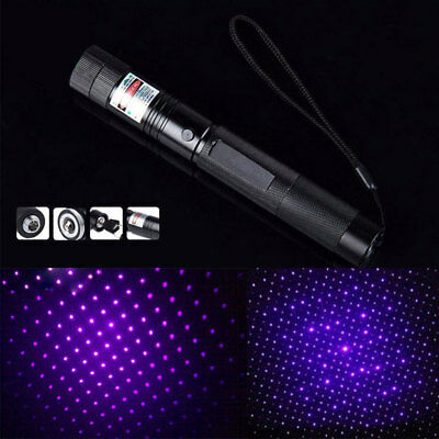 Powerful 850 Purple Light Laser Pointer Pen 5mW 405NM Burning Match Visible Beam