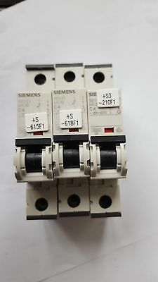 Lot Of 3 Siemens  5Sy6104-7 Circuit Breakers (R5S1.7B3)( (In4S1B2)