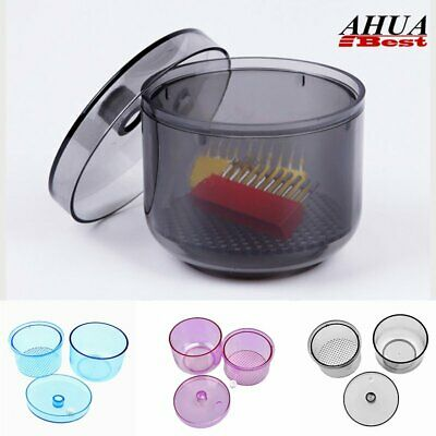 Dental Soak Disinfection Cup Instruments Sterilize Plastic Burs Cleaning Box UK