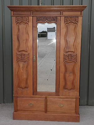 Beautiful Antique Carved Victorian Wardrobe, FREE DELIVERY