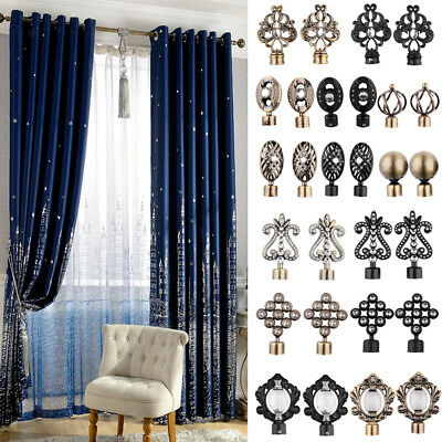 1 Pair Decorative Curtain Drapery Rod/Pole Finials Ends for 28mm Curtain Poles