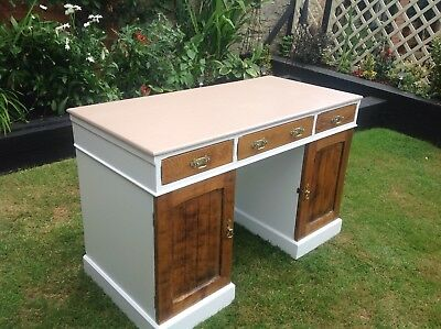~Upcycled Antique 20th Century Painted Office Desk~