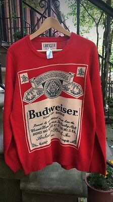 Authentic Lancaster Budweiser sweater