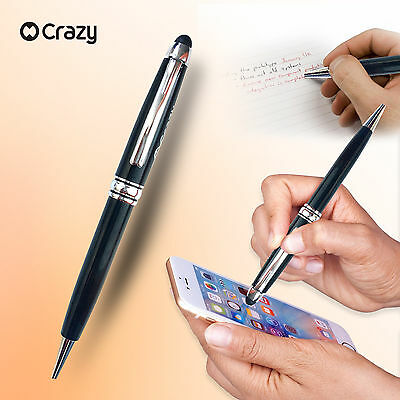 2 CRAZY Universal Capacitive Touch Screen Stylus ink Pen for iPad iPhone Samsung