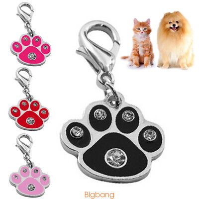Dog Paw Print Pendants Pet Collar Charms Dog Cat Tag Pedant Tool For Pets T5