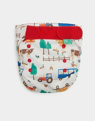 Joules Totsbots Reusable Nappy in Cream Farm in One Size