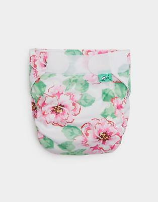 Joules Totsbots Reusable Nappy in Bright White Floral in One Size