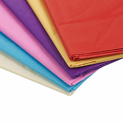 20 Sheets 50 x 70 cm Coloured Tissue Paper Wrapping Sheets Wrap Gift Arts Kids