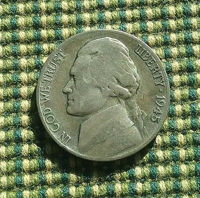 USA 1945 S Wartime Silver Nickel