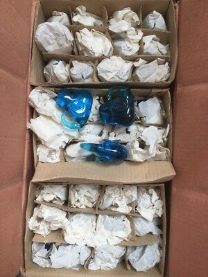 NEW Wholesale Job Lot Gifts Giftware 70 x Glass Blue Elephant Figurines