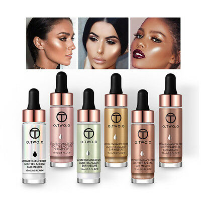 15ml Cosmetic Liquid Highlighter Make Up Brightener Cream Concealer Shimmer Face