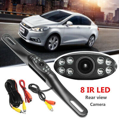 Car License Plate Reversing Parking Backup Camera Rear View Kit Night Vision Cam