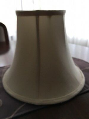 Vintage Lamp Shade - Lined - Cream In Colour