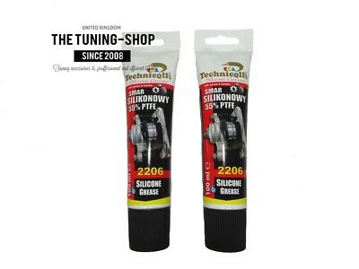 2x 100ml Silicone PTFE Grease Lubricant For Assembly Brake Discs Blocks Gaskets