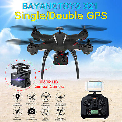 BAYANGTOYS X21 Brushless Double GPS WIFI FPV 1080P Gimbal Cam RC Quadcopter   AU