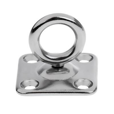 Square Pad Eye - 5mm 6mm Stainless Steel 316 Marine Boat Shade Sail Accessories